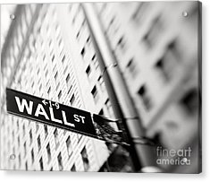 Wall Street Street Sign Acrylic Print