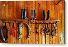 Acrylic Print featuring the photograph Wall Tack And Boots by Andy Lawless