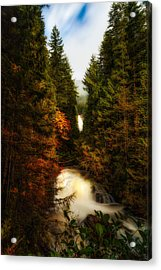 Wallace Fall North Fork Acrylic Print by James Heckt