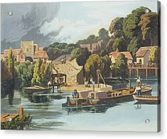 Wallingford Castle In 1810 During Acrylic Print by William Havell