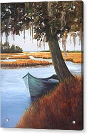 Wallowing In The Marsh Acrylic Print by Karen Langley