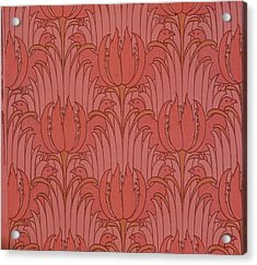 Wallpaper Design Acrylic Print by Victorian Voysey