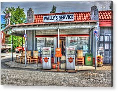 Wally's Service Station Acrylic Print by Dan Stone
