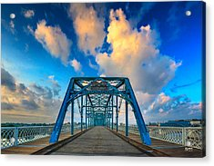 Walnut Street Walking Bridge Acrylic Print by Steven Llorca