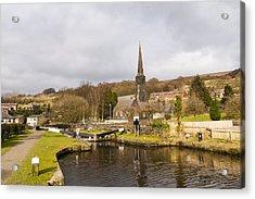 Walsden Church And Canal Lock Acrylic Print