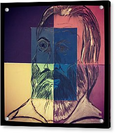 Walt Whitman In Color Acrylic Print by Nickolas Kossup