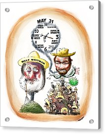 Walt Whitman Meets Clint Eastwood Acrylic Print by Mark Armstrong