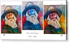 Walt Whitman Poster Acrylic Print by Robert Lacy