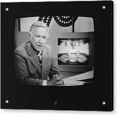 Walter Cronkite, American Journalist Acrylic Print by Everett