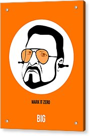 Walter Sobchak Poster 3 Acrylic Print by Naxart Studio