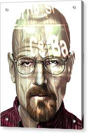 Walter White 2 Acrylic Print by Jamie Bishop