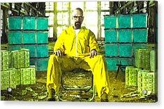 Walter White As Heisenberg Painting Acrylic Print