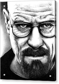 Walter White Breaking Bad Acrylic Print by Rick Fortson