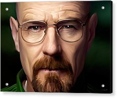 Walter White - Color Acrylic Print by Paul Tagliamonte