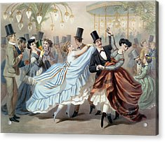 Waltz At The Bal Mabille Avenue Montaigne Paris Acrylic Print by Charles Vernier