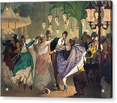 Waltz At The Bal Mabille  Acrylic Print by Philippe Jacques Linder