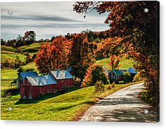 Wandering Down The Road Acrylic Print by Jeff Folger