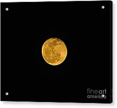 Waning Passover Moon Acrylic Print by Al Powell Photography USA