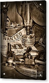 Wanted Dead Or Alive Acrylic Print