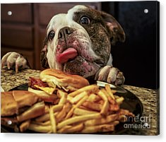 Wanting Those Burgers Acrylic Print