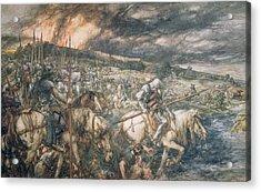 War  After The Battle Acrylic Print by Sir John Gilbert