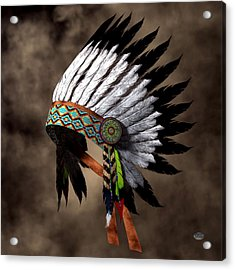 War Bonnet Acrylic Print by Daniel Eskridge