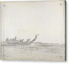 War Canoe Of Tahiti Acrylic Print