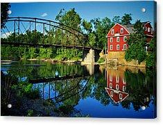 War Eagle Mill And Bridge Acrylic Print by Gregory Ballos