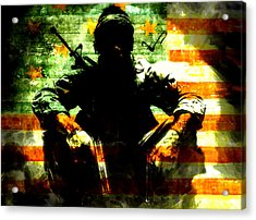 Acrylic Print featuring the painting War Is Hell by Brian Reaves
