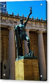 War Memorial Statue Youth In Nashville Acrylic Print by Dan Sproul