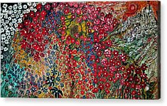 War Of Flowers Acrylic Print by Matthew  James