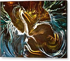 War Of The Worlds Acrylic Print by Michelle Dommer