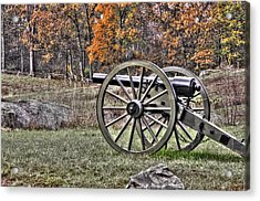 Acrylic Print featuring the photograph War Thunder - 4th New York Independent Battery Crawford Avenue Gettysburg by Michael Mazaika