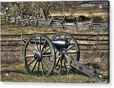 Acrylic Print featuring the photograph War Thunder - 9th Michigan Btry 1st Michigan Light Artillery Battery I Hancock Ave Gettysburg by Michael Mazaika