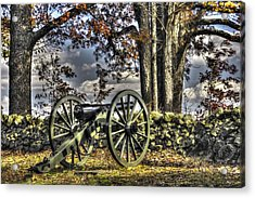 Acrylic Print featuring the photograph War Thunder - Lane's Battalion Ross's Battery-a1 West Confederate Ave Gettysburg by Michael Mazaika