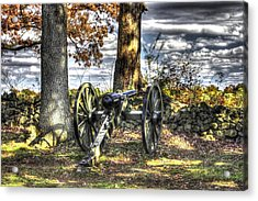 Acrylic Print featuring the photograph War Thunder - Lane's Battalion Ross's Battery-b1 West Confederate Ave Gettysburg by Michael Mazaika