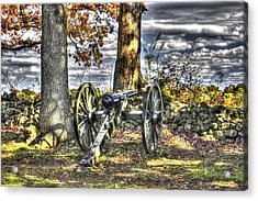 Acrylic Print featuring the photograph War Thunder - Lane's Battalion Ross's Battery-b2 West Confederate Ave Gettysburg by Michael Mazaika