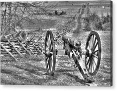 Acrylic Print featuring the photograph War Thunder - Poague's Battalion Brooke's Va Battery West Confederate Avenue Gettysburg by Michael Mazaika