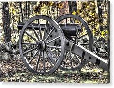 Acrylic Print featuring the photograph War Thunder - The Albemarle Va Artillery Wyatt's Battery-b1 West Confederate Ave Gettysburg by Michael Mazaika
