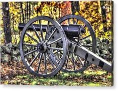 Acrylic Print featuring the photograph War Thunder - The Albemarle Va Artillery Wyatt's Battery-b2 West Confederate Ave Gettysburg by Michael Mazaika