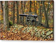 Acrylic Print featuring the photograph War Thunder - The Albemarle Va Artillery Wyatt's Battery West Confederate Ave Gettysburg by Michael Mazaika
