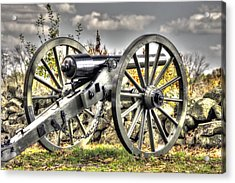 Acrylic Print featuring the photograph War Thunder - The Letcher Artillery Brander's Battery West Confederate Ave Gettysburg by Michael Mazaika