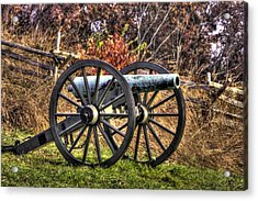 Acrylic Print featuring the photograph War Thunder - The Morris Artillery Page's Battery Oak Hill Gettysburg by Michael Mazaika