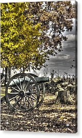 Acrylic Print featuring the photograph War Thunder - The Purcell Artillery Mc Graw's Battery-a2 West Confederate Ave Gettysburg by Michael Mazaika
