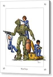 War Toys Acrylic Print