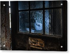 Acrylic Print featuring the photograph Ward Personnel Only by Gary Heller