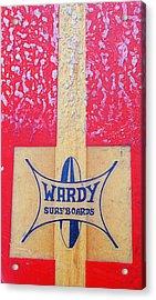 Wardy Surfboards Acrylic Print by Ron Regalado