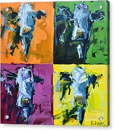 Warhol Cows Acrylic Print