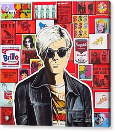 Acrylic Print featuring the mixed media Warhol by Joseph Sonday