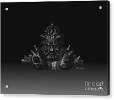 Acrylic Print featuring the sculpture Warlord by R Muirhead Art